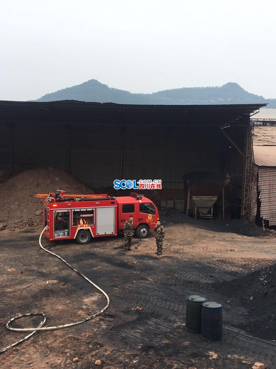 ##:巴州区水宁寺一开掘快速怒 消防队和暖出动